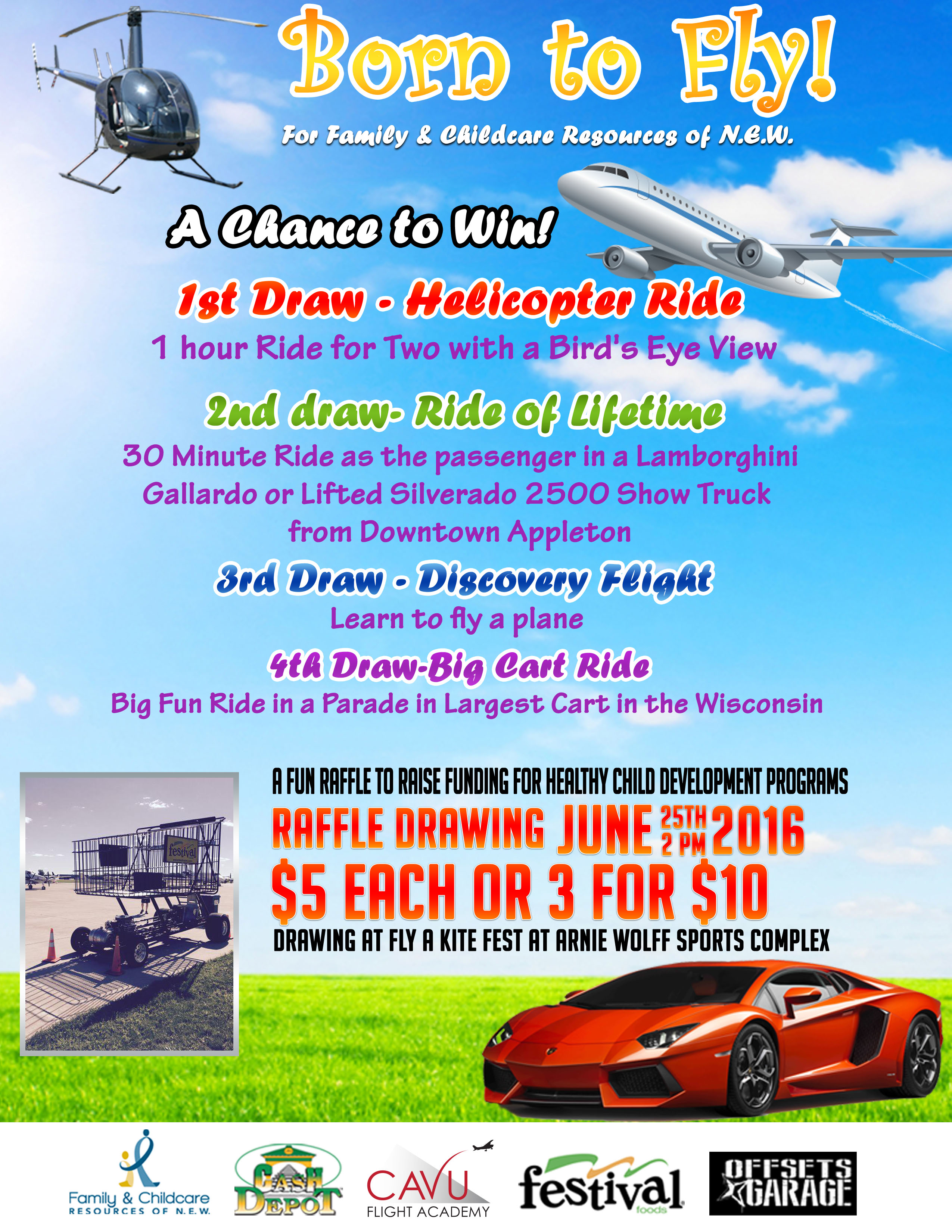 Born to Fly Raffle Tickets | Family & Childcare Resources of