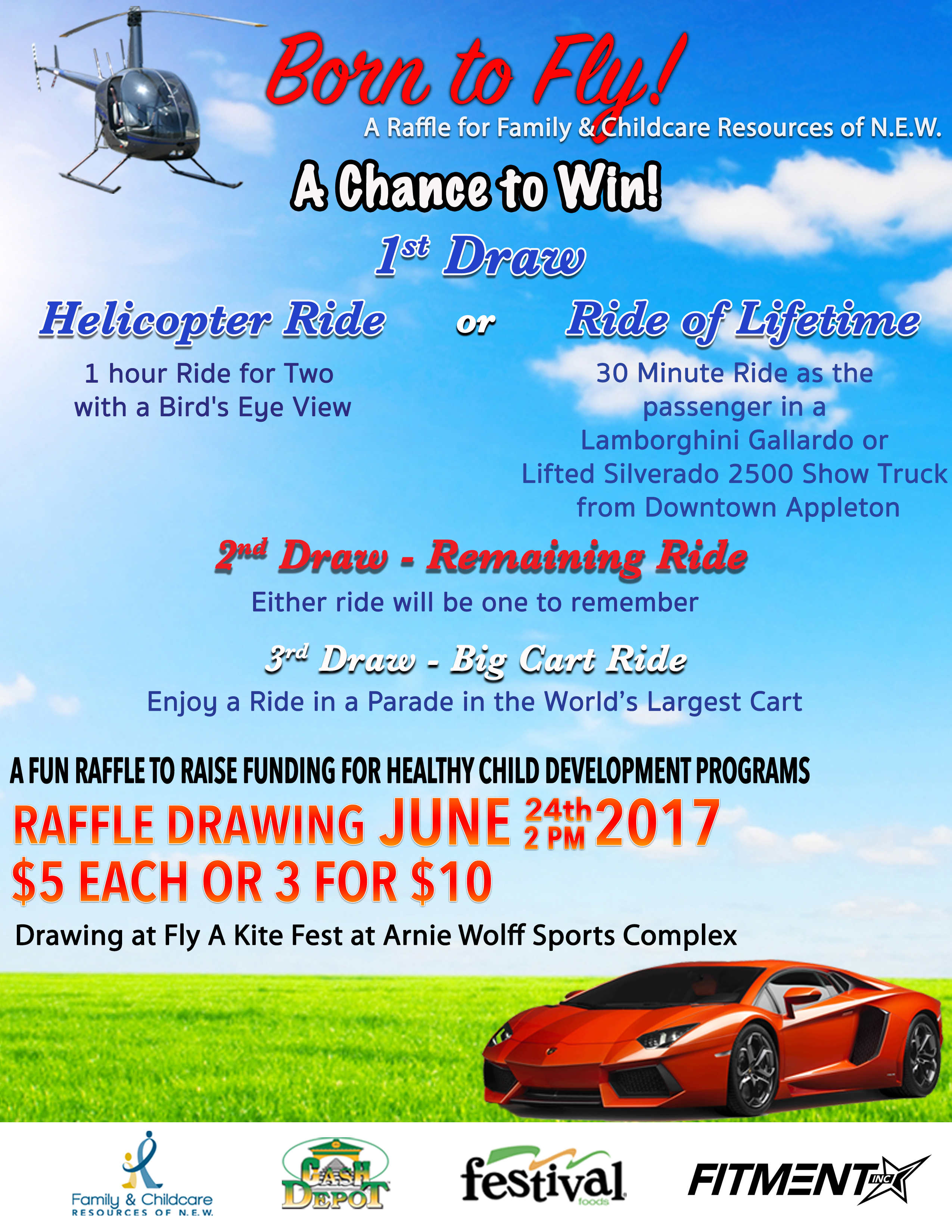 Born to Fly Raffle | Family & Childcare Resources of Northeast Wisconsin