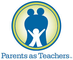 Parents As Teachers logo, blue and green