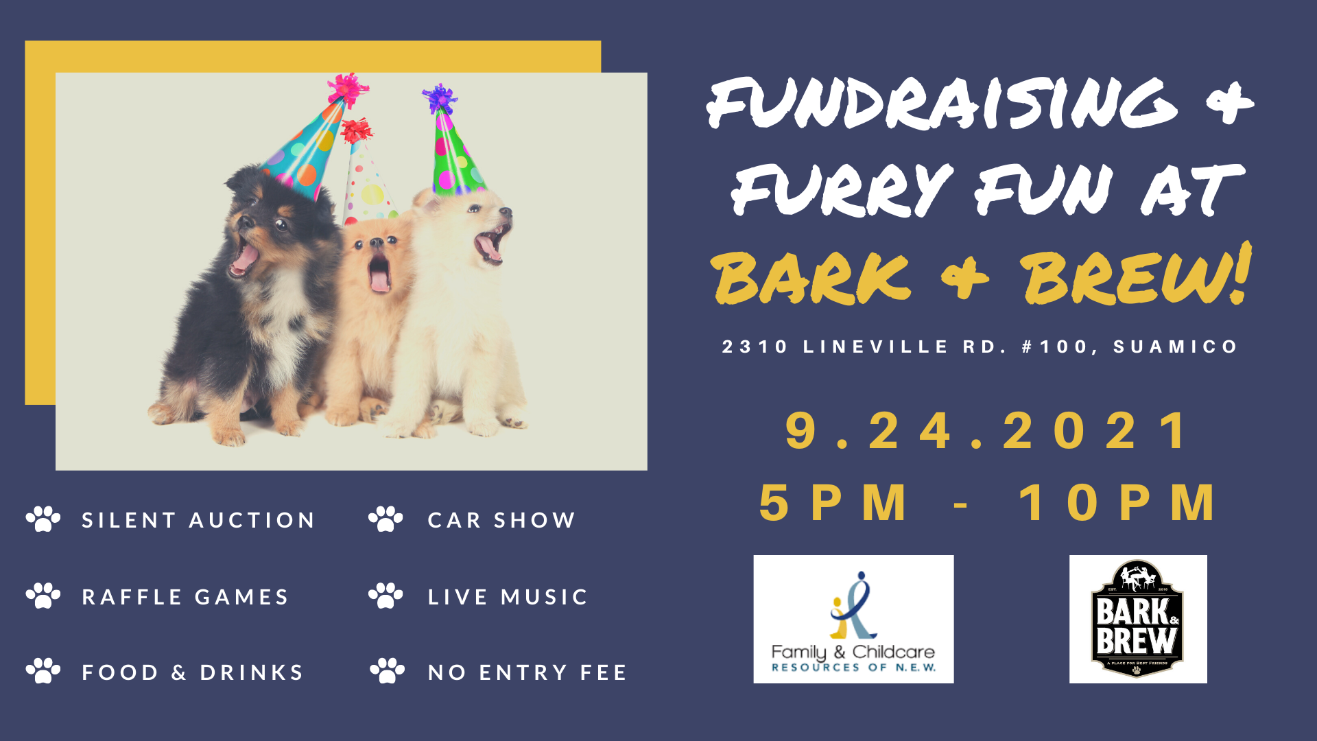 FCRNEW's Fundraiser at Bark & Brew